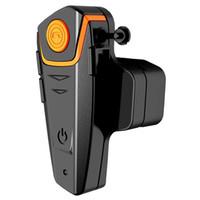 kopfhörer gegensprechanlage großhandel-1 stück BT-S2 Kopfhörer Motorrad Intercom Helm Headsets Drahtlose Bluetooth Helm Interphone Freisprecheinrichtung Wasserdicht FM Radio