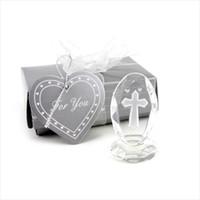 hochzeit bevorzugungsfiguren groihandel-Kristallkollektion Kristallkreuzfiguren mit bunter Schachtel Geburtstag Andenken religiöse Party Zubehör Hochzeit Gunsten Geschenk lin4488
