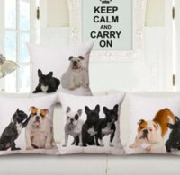 funda de almohada de lino francés al por mayor-French Bulldog Corgi Dog Neck Body Funda de almohada Ropa de cama Funda de almohada Sofá Asiento Cojín Throw Pillow Decoración del hogar Regalo para niños