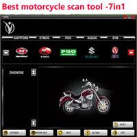 toyota programador h chave venda por atacado-Classic 7 em 1 multi-marca da motocicleta Scanner Motorbike reparar ferramenta de diagnóstico RMT 7 IN 1