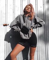 venta de polainas para mujer al por mayor-High Street Womens leggings High Waist Skin Tight Short Sport Pants Moda Solid Bike Shorts para mujer INS Venta caliente Sports Leggings