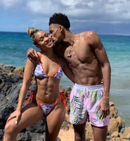 baygın mayo toptan satış-C Mektup Baskılı Bikini Set Kadınlar Banadge Mayolar Katı Dize Plaj Giyim Mayo 2 adet / takım OOA6883