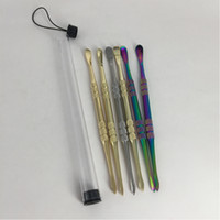 Wholesale ego cleaner resale online - Wax dab tool ego wax atomizer cig stainless steel Clean tool titanium nail dabber tool With PP Tube for dry herb vaporizer pen dabber