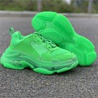 ingrosso vendita di stivali d'epoca-Hot Sale Triple S 17FW Crystal Bottom Green Paris Vintage Casual Old Dad Shoes Platform Boots mens women sneakers