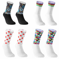 Wholesale bicycle socks resale online - New Anti Slip Seamless Cycling Socks Integral Moulding High tech Bike Sock Compression Bicycle Outdoor Running Sport Socks