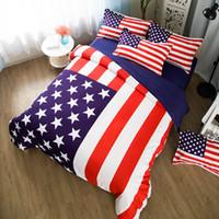 ingrosso set biancheria da letto americano-king size bandiera americana set biancheria da letto singola doppia pieno usa bandiera set biancheria da letto lenzuola trapunta copertina federa 3 / 4pcs home decor 5