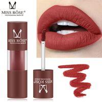 Wholesale lip pigment matte for sale - Group buy MISS ROSE Brand Waterproof Matte Lips Liquid Lipstick Makeup Pigment Sexy Baton Nude Lips Lipgloss Colors