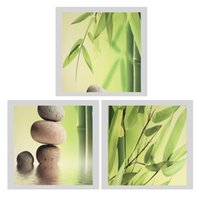 Wholesale modern art bamboo paintings resale online - 3Pcs Modern Art Oil Painting Canvas Picture Bamboo Wall Home Decor x40cm No Frame