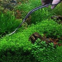 ingrosso onda d'acquario-Professionale acquario serbatoio di pesce strumento di pulizia delle piante acquatiche pinze scissor lungo in acciaio inox onda forbice curvo Pet Supplies
