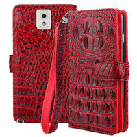 Wholesale galaxy note3 flip cover online - For Samsung Galaxy Note Case Cover Flip Cover Crocodile PU Leather Case For Samsung Galaxy Note Note3 N9005