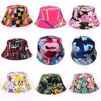 Floral Bucket Hats For Women big children Sun Hats Print Outdoors caps 2019  Summer Beach SunHat Girls Flower Bucket Hat 27 styles C5980 c50a48aefc41