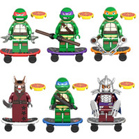 mini-bausteine groihandel-Schildkröten Mini-Spielzeug-Abbildung Leo Raph Mike Don Da Vinci Raphael Michelangelo Donatello Meister Splinter Shredder Bauklotz