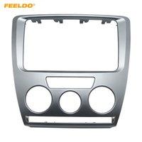 marco de 2din al por mayor-FEELDO Car DVD / CD Radio Estéreo 2DIN Panel de fascia Marco de montaje Facia Trim Instalar kit de montaje para Skoda Octavia (2007 ~ 2009) Manual A / C # 3468