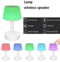 drahtlose nachttischlampe großhandel-Neuer Bluetooth Lautsprecher intelligentes Licht bunter LED Nachtlicht Ton Nachttischlampe drahtloser Lautsprecher stero Lautsprecher DHL Verschiffen