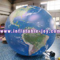 free air ship to door,inflatable planets ball for advertising, Giant inflatable Earth globe balloon for environmental protection