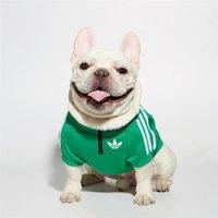 köpek spor kıyafetleri toptan satış-Renkli Hayvan Hoodie Çizgili Tasarımcı Pet Spor Classics 5 Renk Köpek Kapüşonlular Avrupa Ve Amerika Teddy Golden Retriever Elbise Giyim