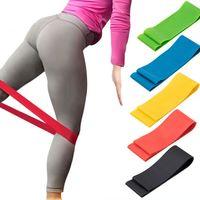 bandas de goma de yoga al por mayor-Bandas de resistencia Banda de goma Entrenamiento Equipo de gimnasia de fitness Bucles de goma Látex Yoga Gimnasio Entrenamiento de fuerza Bandas de goma atléticas