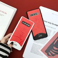 siyah beyaz iphone toptan satış-Marka Tasarımcısı Lüks Desen Telefon Kılıfları Moda Kapak Samsung Galaxy için S10 S10e S10 + S8 S9 Artı Not 8 9 Siyah Beyaz 2 Renkler