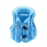 aufblasbare rettungswesten kinder großhandel-Kinder Baby Schwimmwesten Aufblasbare Schwimmweste PVC Kinder Unterstützt aufblasbare Badebekleidung Für Wassersport Schwimmbad Zubehör