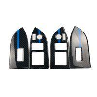 toyota lift venda por atacado-Design de moda Interior Do Carro Janela De Fibra De Carbono elevador botão Moldura Decorativa Modificação Guarnição Auto Adesivos Para Subaru BRZ Toyota 86