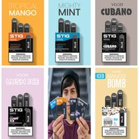 Wholesale charging pack resale online - VGOD STIG Disposable Pod Kit Device Pack mAh Fully Charged Battery with ml Cartridge E Cigarettes Vape Pen Kit Top Quality