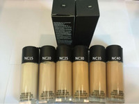 Wholesale grey highlighter resale online - HOT Makeup Studio Fix Fluid B51 Foundation Liquid ML High Quality Gift Faced Concealer Highlighter Makeup