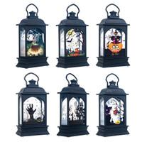 ingrosso luce lanterna d'epoca-Accessori per la zucca di Halloween LED luci decorative d'epoca Castello di luce della lampada del partito della casa del Festival delle Lanterne decorazione del partito LED appendere le luci