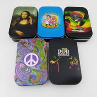 cajas de hojalata al por mayor-Estilo de mano de obra Bob Marley Stash Can Caja de lata de moda de alta calidad Nuevo Micro Metal Caja de almacenamiento 2 5pn Ww