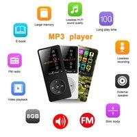 dispositivos de altavoz bluetooth al por mayor-Nueva pantalla de altavoces portátiles ultrafinos sin pérdidas de música de alta fidelidad Mini Sport reproductor de audio Bluetooth Tarjeta del TF MP3 Dispositivos FM Radio # W1
