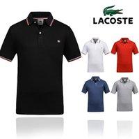 yeni tasarım polo tişört toptan satış-2019 yeni tasarım rahat yaz erkek markalar polot gömlek nakış logo erkek polo gömlek yüksek sokak modası polo gömlek erkekler t-shirt