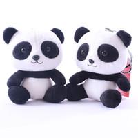 sevimli anime panda toptan satış-10 cm Panda Akın Hayvan Süper sevimli panda bebek Peluş Oyuncaklar Doldurulmuş Hayvanlar oyuncak sevgililer Günü hediyesi Çocuklar için en iyi oyuncaklar