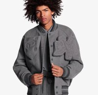 casacos chineses venda por atacado-2019 Inverno mens designer de luxo dedo vitória cinza quente roxo jaqueta jaquetas TAMANHO DO CHINÊS ~ designer de jaqueta para homens 113