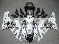ingrosso bianco nero 636-Hot Full New ABS kit carenatura moto per Kawasaki Ninja 636 ZX6R 2005 2006 carenatura moto custom bianco nero