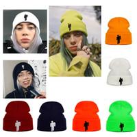sıcak kostümler toptan satış-Billie Eilish Beanie 5 Renkler Örme Kış Şapka Katı Hip-Hop Skullies Örme Şapka Kap Kostüm Aksesuar Hediyeler Sıcak Kış