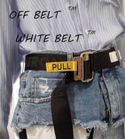 ceintures jaunes femmes achat en gros de-Super Legit 200 cm toile de haute qualité ceinture jaune / concepteur blanc ceintures hommes et femmes bien faite haute rue meilleure ceinture avec paquet