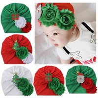 Wholesale styles crochet hats for sale - Group buy Candy Colors Kids Bow Hat Christmas Style Stereo Flower Beanie Crochet girls Cute Hat New born Hat Cap