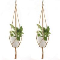 ingrosso pot di fiore classico-Classic Hanging Holder Planter Macrame Planter Hanger Parete interna Hanging Basket Flower Pot Holoder Decorazione della casa
