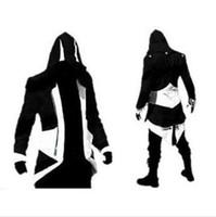 assassins creed hoodie colors al por mayor-Venta caliente hecho a mano de moda Assassins Creed 3 III Connor Kenway Hoodies / Disfraces Chaquetas / Abrigo 9 colores elegir directamente de fábrica