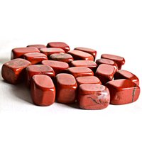 ingrosso pietre del chakra rosso-100 g / lotto naturale diaspro rosso di cristallo pietra martellata pietra preziosa minerale chip naturale punto perline Chakra Healing Reiki Decorazioni