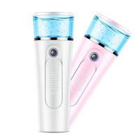 mini vaporizador facial nano al por mayor-Mini botella de spray facial portátil Nano Facial Steamer Hair USB Recargable Power Bank Sprayer 2 en 1 Herramienta de viaje ZZA334