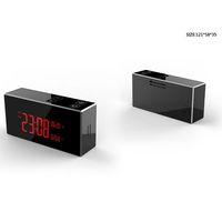 видеоролики оптовых-Скрытый 4K HD ИК ночного видения WIFI будильник камера Беспроводные часы видеорегистратор Макс 128G