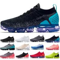 ingrosso vendita di scarpe aeree-Nike Air Max Vapormax 2018 Vapori Best Sale 2.0 ESSERE VERO Designers Uomo Donna Scarpe shock per moda uomo moda casual Scarpe casual taglia 36-45