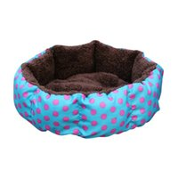 коричневая печать постельное белье оптовых-Colorful Leopard Print Pet Cat and Dog Bed Pink Blue Yellowish brown, Deep pink SIZE S M L XL Puppy House For Gatos