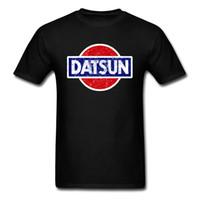 ingrosso la parte superiore rossa dell'automobile nera-Datsun T-shirt Wagon Logo T Shirt Uomo Tshirt Nero Abbigliamento Giappone Chic Top Summer Tee Manica corta Red Car Streetwear
