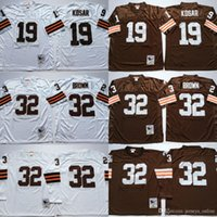 Wholesale white sports shorts for sale - Group buy Cleveland Vintage Bernie Kosar Jerseys Browns Man White Away Football Jim Brown Jersey Breathable For Sport Fans High Quality