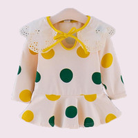 Wholesale cute baby polka dot dress for sale - Group buy New Spring Girls Dress Polka Dot Dress For Girls Lace Turn Down Collar Kids Party Dresses Summer Cute Baby Clothes For