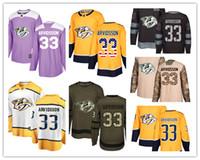 нэшвилл хоккей оптовых-Трикотажные изделия Nashville Predators # 33 Viktor Arvidsson Jersey хоккей мужчины женщины молодежь золото желто-белый дом Breakaway Стилевые аутентичные кофты