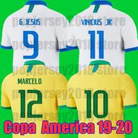 neymar jr brasil jersey al por mayor-Camiseta de fútbol de Tailandia Brasil Copa América 2019 2020 Camiseta de fútbol de COUTINHO FIRMINO NEYMAR JR Camiseta de fútbol