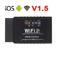 Wholesale fault codes for cars for sale - Group buy Black ELM327 V1 OBD2 WIFI Car Fault Detector Diagnostic Scanner for Android IOS PC Platform OBDII Auto Code Reader Scanner