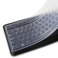 dizüstü film koruyucuları toptan satış-Taşınabilir Şeffaf Laptop Klavye Anti-toz Kapağı Koruyucu Masaüstü Bilgisayar Için Silikon Koruyucu Film
